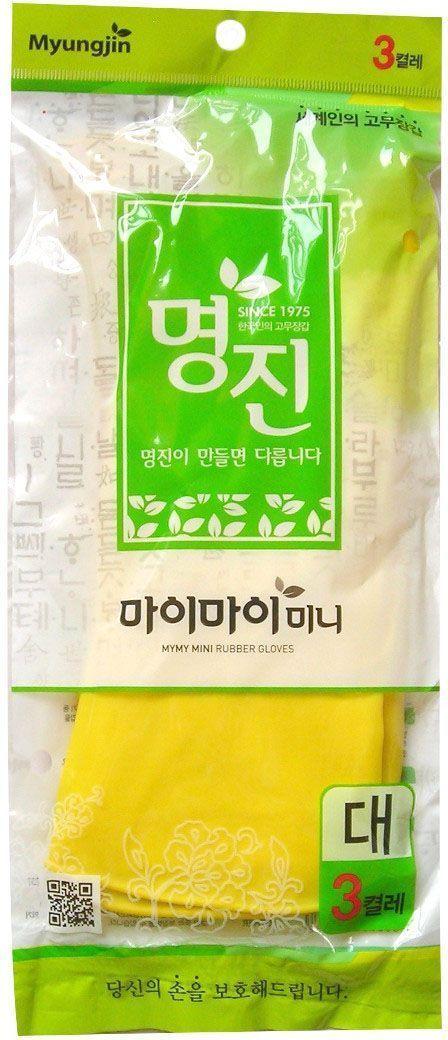 Перчатки хозяйственные Myungjin Rubber Glove. Mymy Mini, латексные, размер: L. H2DW90Латексные перчатки защищают руки во время проведения бытовых и хозяйственных работ. Перчатки удобны в использовании, гигиеничны, долговечны.Особенности продукта:при изготовлении используется только 100% натуральный каучук, что придает перчаткам мягкость, повышенную прочность и делает возможным их длительное использование;в процессе производства перчатки подвергаются термической обработке, проходят полную дезинфекцию и обладают антибактериальным эффектом;отличная функциональность и эргономичный дизайн позволяет использовать их длительное время без негативного воздействия на руки.В области ладони и пальцев на перчатки нанесено противоскользящее покрытие. Края перчаток дополнительно обработаны износостойким веществомРезиновые перчатки MYUNGJIN одобрены Корейским исследовательско - испытательным институтом как антибактериальные и не вызывающие раздражения кожи рук; имеют сертификаты качества ISO 9001, 14001.Для большего комфорта рекомендуется использовать вместе с неткаными перчатками марки MYUNGJIN, которые обеспечивают гигиену рук, впитывают влагу, сохраняют тепло при долгом нахождении в холодной воде.Способ применения: используйте перчатки в бытовых целях. При необходимости сушите, вывернув наизнанку. В случае появления запаха тщательно промойте.Меры предосторожности: сушить, избегая попадания прямых солнечных лучей. Во избежание травм соблюдать меры предосторожности при работе с острыми предметами. Не использовать при работе с нефтепродуктами и химическими препаратами. Не класть в озоновые стиральные машинки и холодильники. В случае возникновения аллергии или раздражения кожи, прекратите использование или воспользуйтесь дополнительно неткаными перчатками марки MYUNGJIN.Состав: натуральный каучук, краситель, диоксид титана, ускорители вулканизации, оксид цинка, сера, R-воск, пеногаситель, стабилизатор латекса, диспергатор, гидроксид калия, нашатырный спирт.