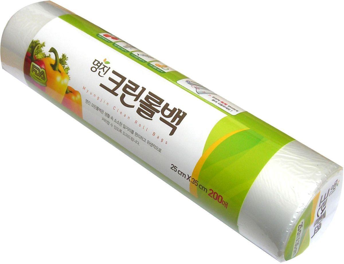 Пакеты для хранения продуктов Myungjin Bags Roll Type, полиэтиленовые, пищевые, в рулоне 17 x 25 смFA-5125 WhiteБезопасные, удобные и прочные пакеты изготовлены из полиэтилена низкого давления. Предназначены для хранения пищевых и непищевых продуктов. Упакованы в рулоны. Используются в диапазоне температур от -600°С до 1200°С. Подходят для заморозки и разогрева продуктов в СВЧ печах.Состав: HDPE F500 (полиэтилен низкого давления).Меры предосторожности: не нагревайте пакет в микроволновой печи, если он находится в закрытом состоянии или в нем хранятся продукты питания с большим содержанием жира. Не упаковывайте жидкие товары, они могут вытечь. Острые предметы или инструменты могут повредить пакет. Не подносите близко к огню.
