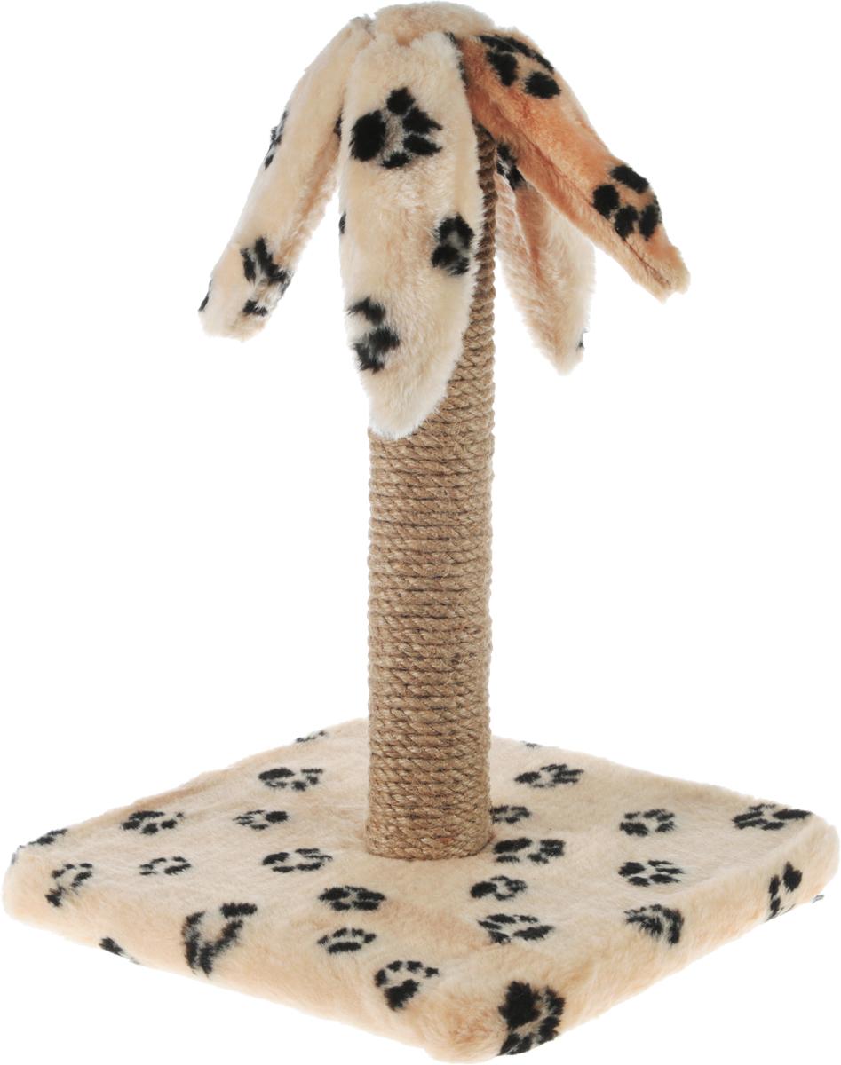 Когтеточка Меридиан Пальма, на подставке, цвет: бежевый, черный, высота 45 смМДКЧ2Когтеточка Меридиан Пальма поможет сохранить мебель и ковры в доме от когтей вашего любимца, стремящегося удовлетворить свою естественную потребность точить когти. Когтеточка изготовлена из дерева, искусственного меха и джута. Она имеет оригинальный дизайн в виде пальмы. Товар продуман в мельчайших деталях и, несомненно, понравится вашей кошке. Всем кошкам необходимо стачивать когти. Когтеточка - один из самых необходимых аксессуаров для кошки. Для приучения к когтеточке можно натереть ее сухой валерьянкой или кошачьей мятой. Когтеточка поможет вашему любимцу стачивать когти и при этом не портить вашу мебель.Размер основания: 31 х 31 см.Высота когтеточки: 45 см.