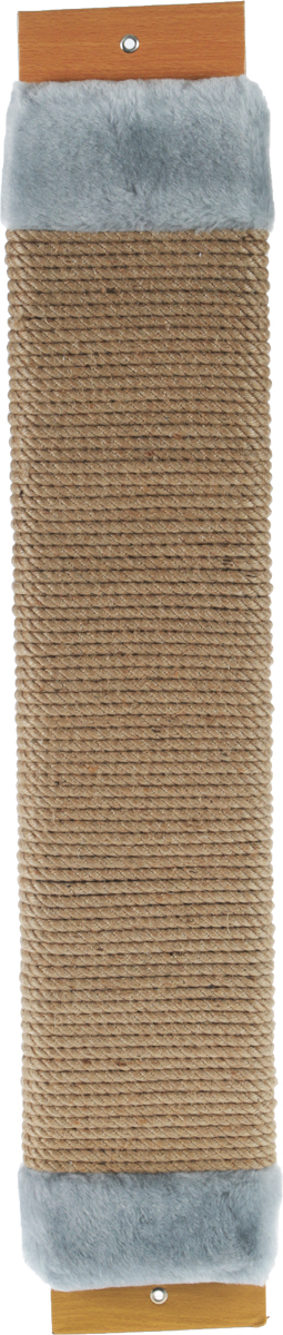 Когтеточка Неженка, джутовая, с кошачьей мятой, цвет: серый, бежевый, 75 х 14 х 4 см86055Когтеточка Неженка поможет сохранить мебель и ковры в доме от когтей вашего любимца, стремящегося удовлетворить свою естественную потребность точить когти.Основание изделия изготовлено из ДСП и обтянуто прочной тканью, а столб для точения когтей обтянут джутом. Товар продуман в мельчайших деталях и, несомненно, понравится вашей кошке.Всем кошкам необходимо стачивать когти. Когтеточка - один из самых необходимых аксессуаров для кошки. Для приучения к когтеточке можно натереть ее сухой валерьянкой или кошачьей мятой. Когтеточка поможет вашему любимцу стачивать когти и при этом не портить вашу мебель.