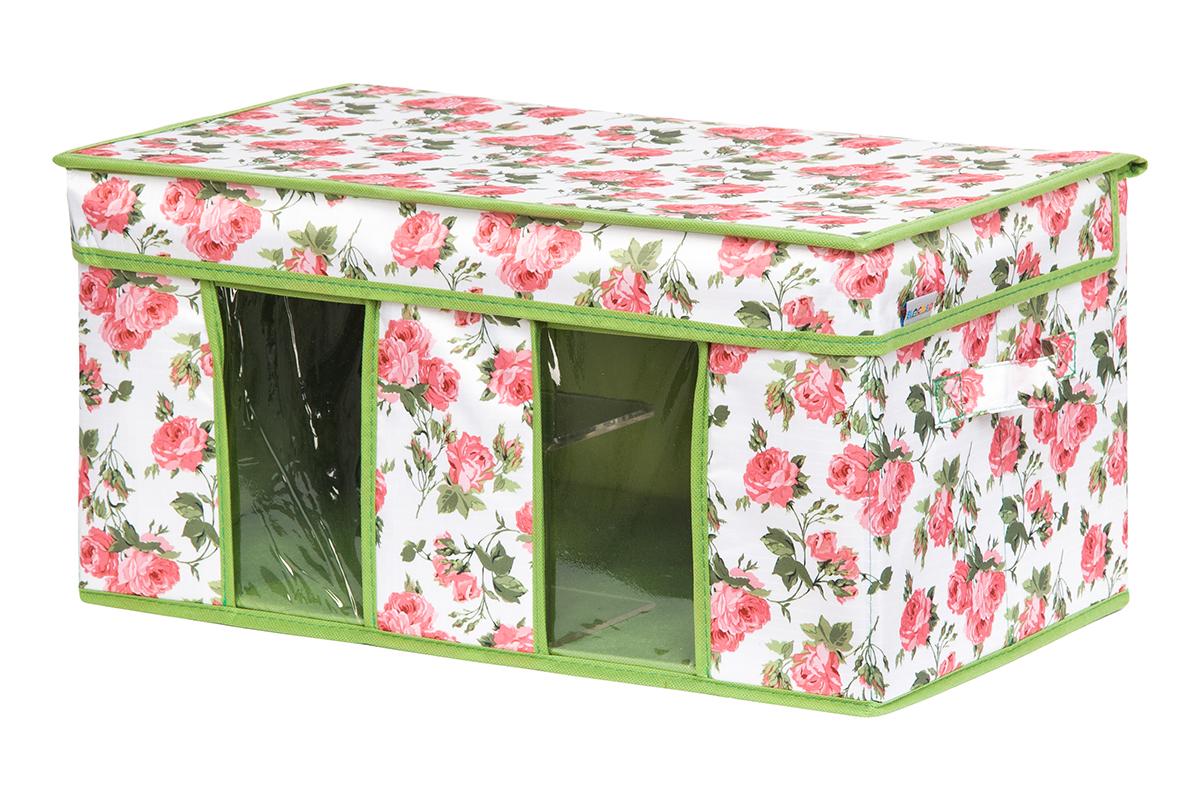 Кофр для хранения вещей EL Casa Розовый рассвет, складной, 50 х 29 х 24 смS03301004Вместительный кофр для хранения одежды и домашнего текстиля с 2 ручками. Прозрачные вставки позволяют видеть содержимое кофра. Благодаря эстетичному дизайну кофр гармонично смотрится в любом интерьере.