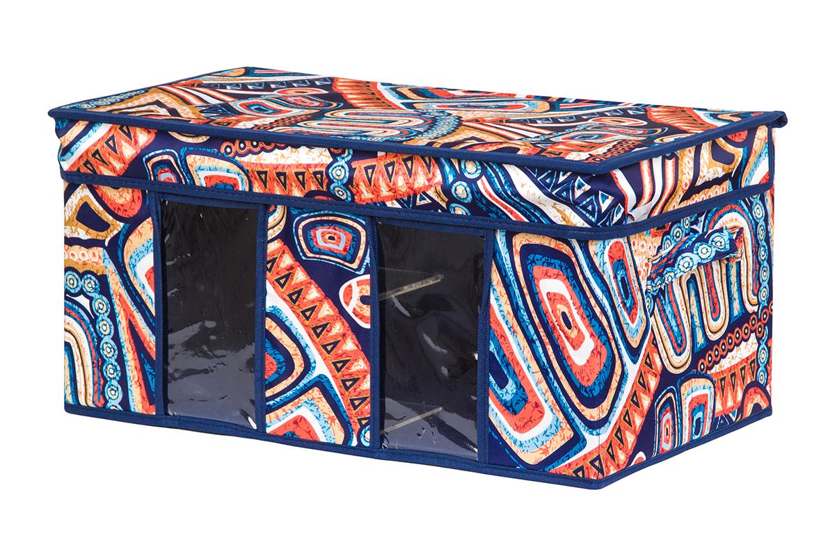 Кофр для хранения вещей EL Casa Мексика, складной, 50 х 29 х 24 см1004900000360Вместительный кофр для хранения одежды и домашнего текстиля с 2 ручками. Прозрачные вставки позволяют видеть содержимое кофра. Благодаря эстетичному дизайну кофр гармонично смотрится в любом интерьере.
