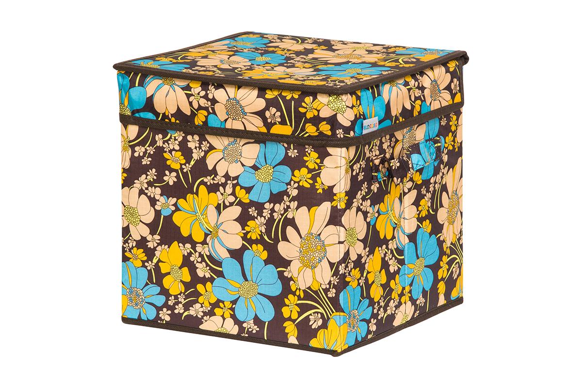 Кофр для хранения вещей EL Casa Ромашковое поле, складной, 28 х 28 х 28 см74-0120Кофр для хранения представляет собой закрывающуюся крышкой коробку жесткой конструкции, благодаря наличию внутри плотных листов картона. Специально предназначен для защиты Вашей одежды от воздействия негативных внешних факторов: влаги и сырости, моли, выгорания, грязи. Благодаря оригинальному дизайну кофр будет гармонично смотреться в любом интерьере.