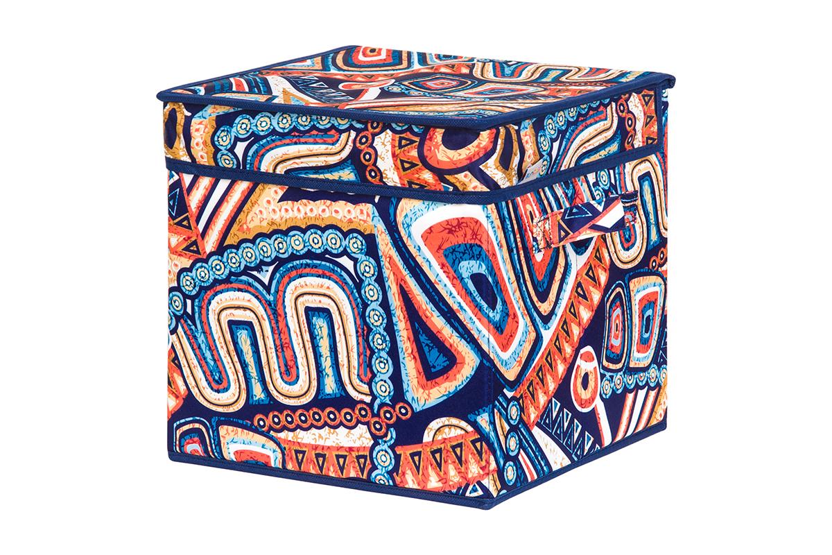 Кофр для хранения вещей EL Casa Мексика, складной, 28 х 28 х 28 см1004900000360Кофр для хранения представляет собой закрывающуюся крышкой коробку жесткой конструкции, благодаря наличию внутри плотных листов картона. Специально предназначен для защиты Вашей одежды от воздействия негативных внешних факторов: влаги и сырости, моли, выгорания, грязи. Благодаря оригинальному дизайну кофр будет гармонично смотреться в любом интерьере.