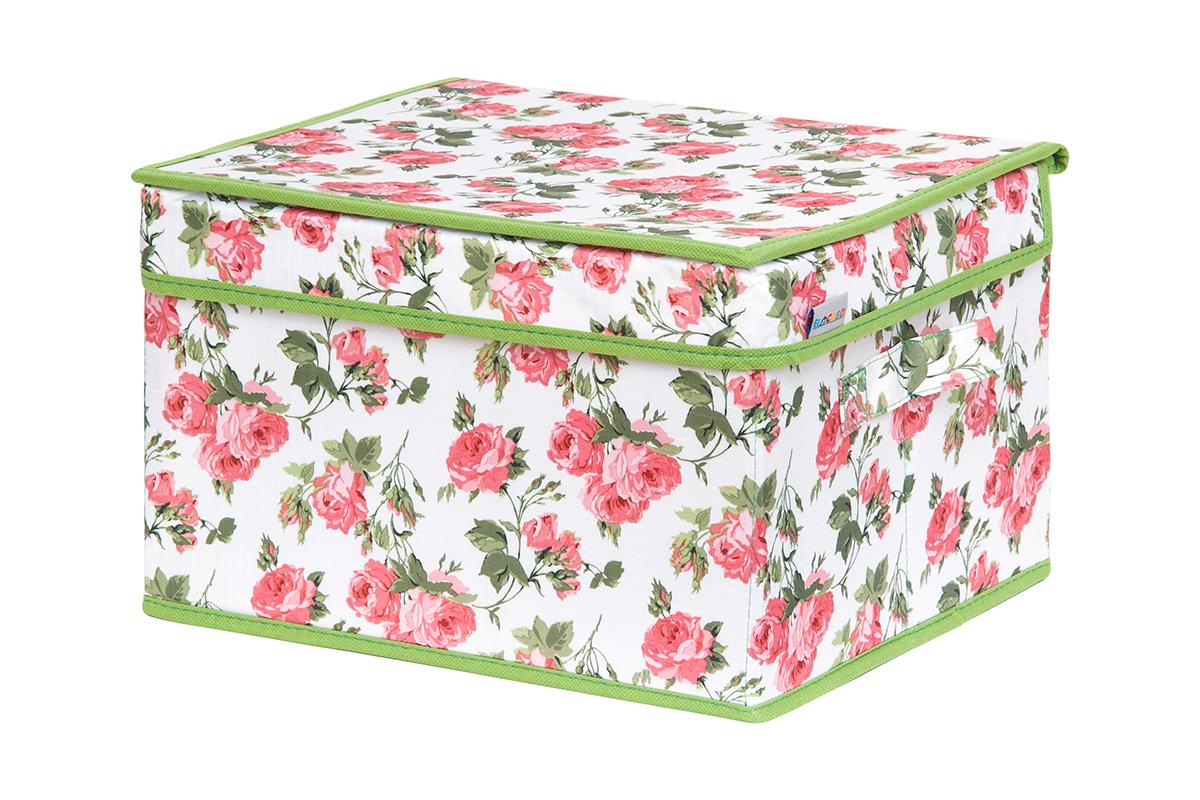 Кофр для хранения вещей EL Casa Розовый рассвет, складной, 32 х 27 х 20 смPANTERA SPX-2RSКофр для хранения представляет собой закрывающуюся крышкой коробку жесткой конструкции, благодаря наличию внутри плотных листов картона. Специально предназначен для защиты Вашей одежды от воздействия негативных внешних факторов: влаги и сырости, моли, выгорания, грязи. Благодаря оригинальному дизайну кофр будет гармонично смотреться в любом интерьере.