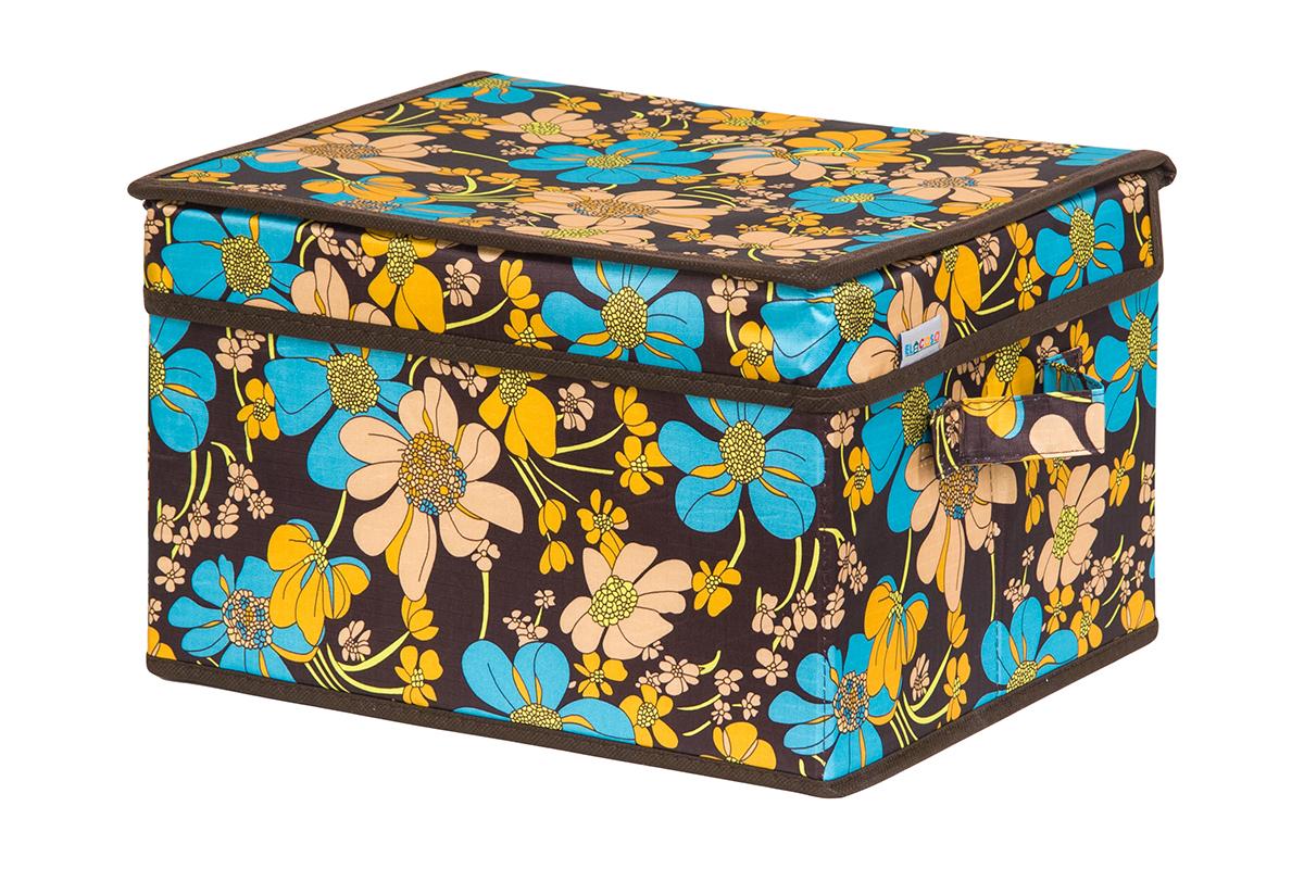Кофр для хранения вещей EL Casa Ромашковое поле, складной, 32 х 27 х 20 смCLP446Кофр для хранения представляет собой закрывающуюся крышкой коробку жесткой конструкции, благодаря наличию внутри плотных листов картона. Специально предназначен для защиты Вашей одежды от воздействия негативных внешних факторов: влаги и сырости, моли, выгорания, грязи. Благодаря оригинальному дизайну кофр будет гармонично смотреться в любом интерьере.