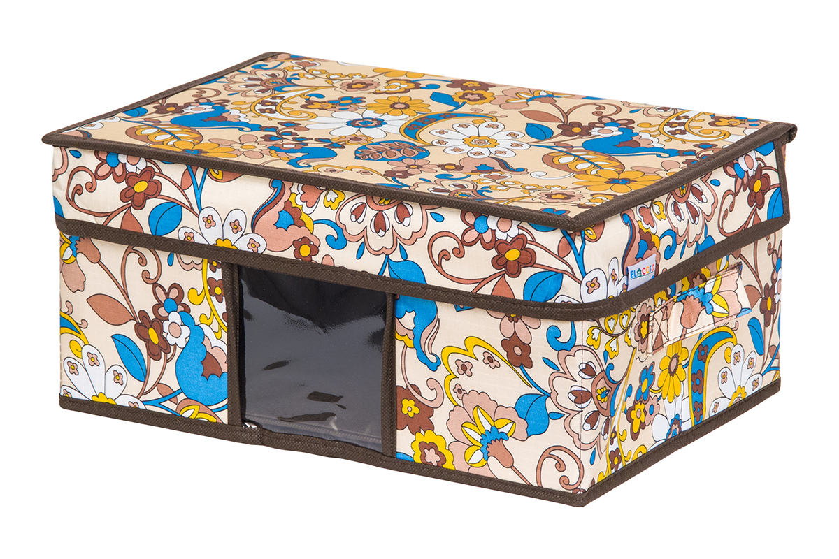 Кофр для хранения вещей EL Casa Сияние лета, складной, 35 х 20 х 16 смRG-D31SКофр для хранения с ручками. Прозрачная вставка позволяет видеть содержимое кофра. Благодаря эстетичному дизайну кофр гармонично смотрится в любом интерьере.
