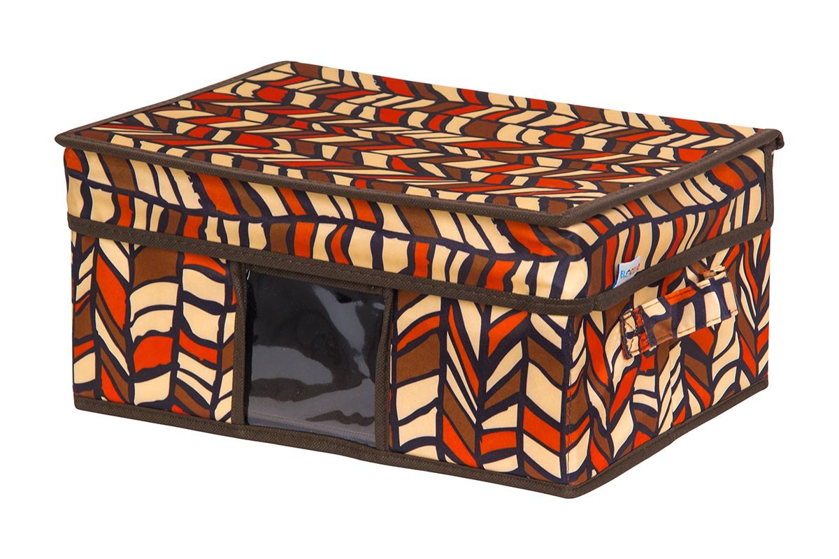 Кофр для хранения вещей EL Casa Африка, складной, 35 х 20 х 16 смRG-D31SКофр для хранения с ручками. Прозрачная вставка позволяет видеть содержимое кофра. Благодаря эстетичному дизайну кофр гармонично смотрится в любом интерьере.