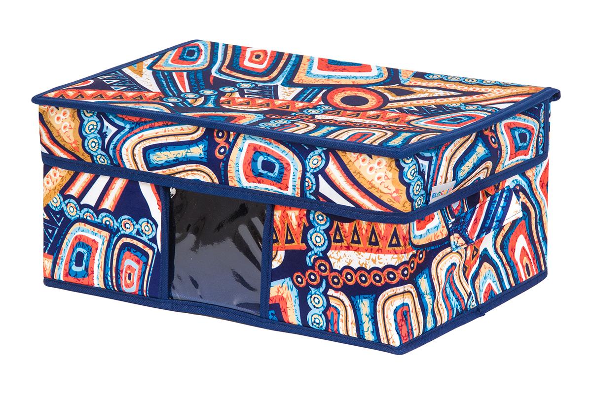 Кофр для хранения вещей EL Casa Мексика, складной, 35 х 20 х 16 смS03301004Кофр для хранения с ручками. Прозрачная вставка позволяет видеть содержимое кофра. Благодаря эстетичному дизайну кофр гармонично смотрится в любом интерьере.