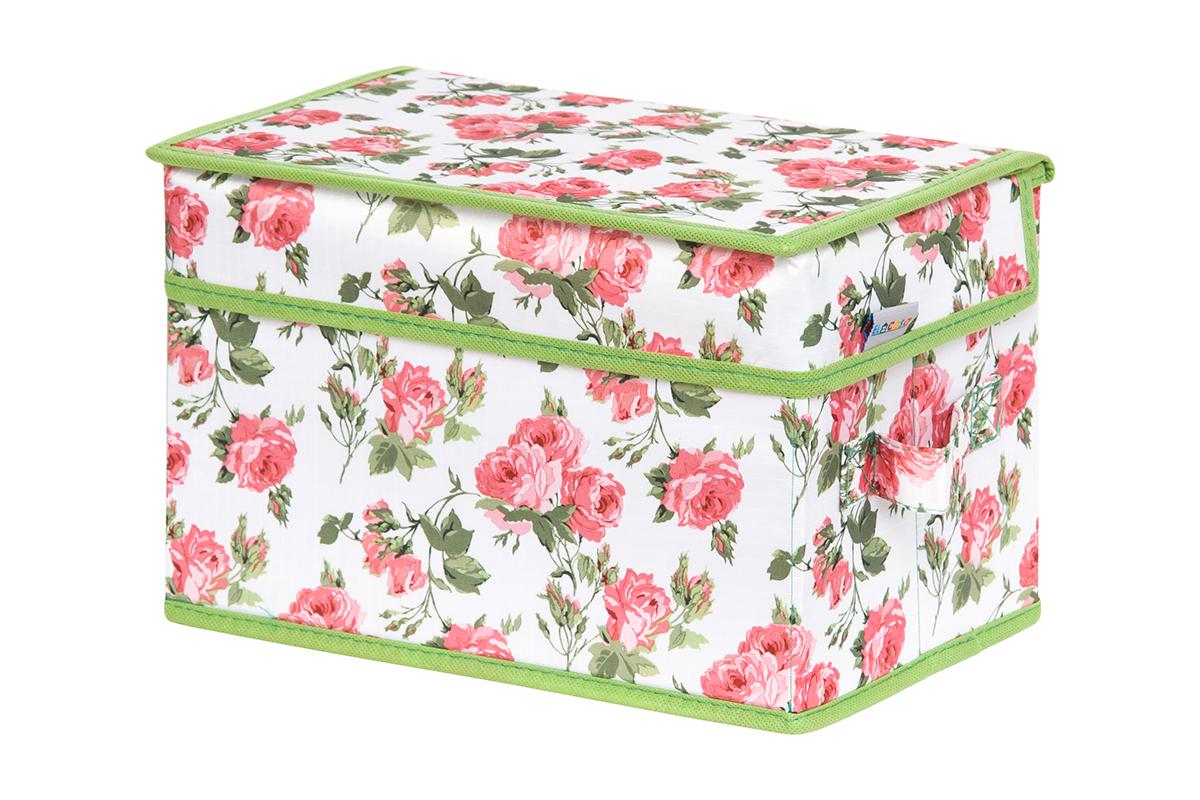 Кофр для хранения вещей EL Casa Розовый рассвет, складной, 28 х 18 х 18 см1004900000360Кофр для хранения представляет собой закрывающуюся крышкой коробку жесткой конструкции, благодаря наличию внутри плотных листов картона. Специально предназначен для защиты Вашей одежды от воздействия негативных внешних факторов: влаги и сырости, моли, выгорания, грязи. Благодаря оригинальному дизайну кофр будет гармонично смотреться в любом интерьере.