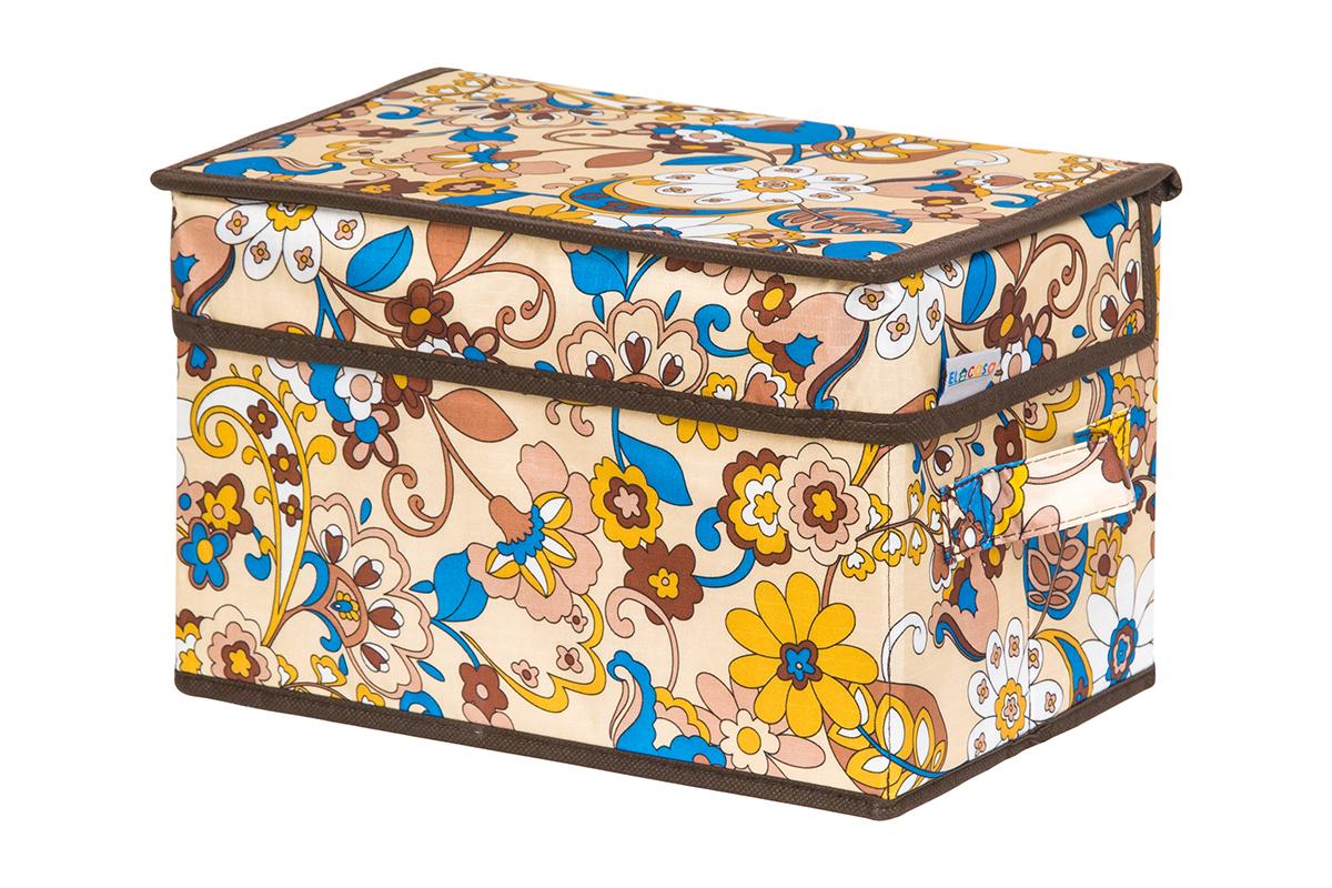 Кофр для хранения вещей EL Casa Сияние лета, складной, 28 х 18 х 18 см41619Кофр для хранения представляет собой закрывающуюся крышкой коробку жесткой конструкции, благодаря наличию внутри плотных листов картона. Специально предназначен для защиты Вашей одежды от воздействия негативных внешних факторов: влаги и сырости, моли, выгорания, грязи. Благодаря оригинальному дизайну кофр будет гармонично смотреться в любом интерьере.