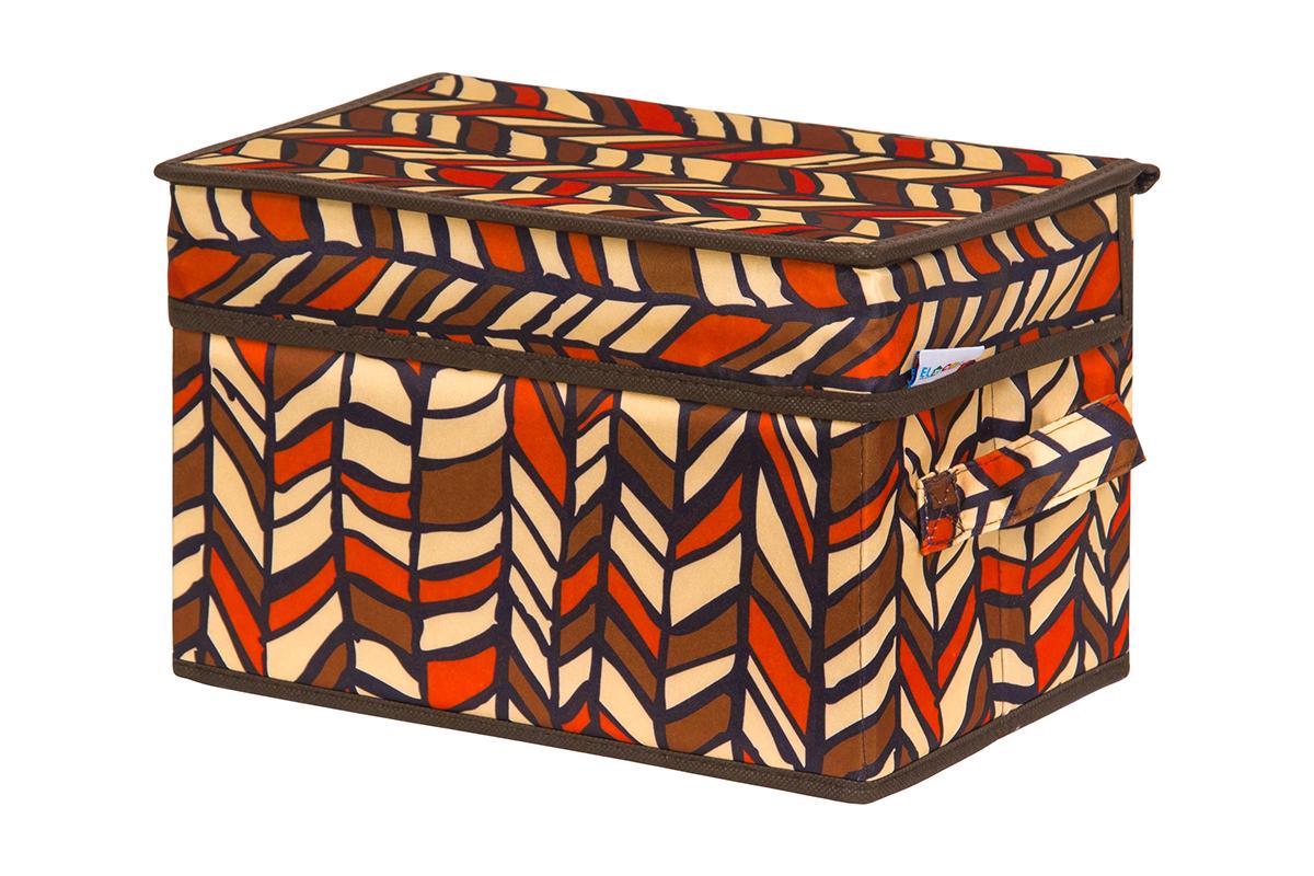 Кофр для хранения вещей EL Casa Африка, складной, 28 х 18 х 18 смS03301004Кофр для хранения представляет собой закрывающуюся крышкой коробку жесткой конструкции, благодаря наличию внутри плотных листов картона. Специально предназначен для защиты Вашей одежды от воздействия негативных внешних факторов: влаги и сырости, моли, выгорания, грязи. Благодаря оригинальному дизайну кофр будет гармонично смотреться в любом интерьере.