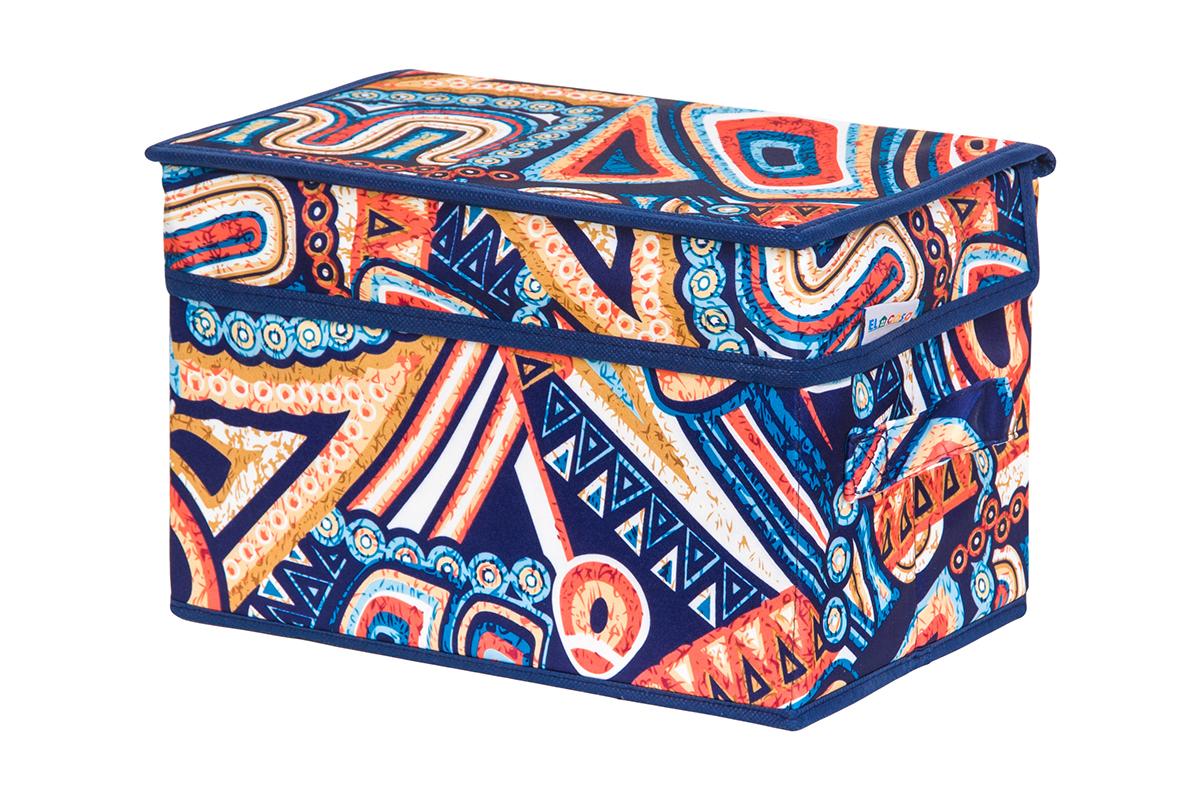 Кофр для хранения вещей EL Casa Мексика, складной, 28 х 18 х 18 см74-0060Кофр для хранения представляет собой закрывающуюся крышкой коробку жесткой конструкции, благодаря наличию внутри плотных листов картона. Специально предназначен для защиты Вашей одежды от воздействия негативных внешних факторов: влаги и сырости, моли, выгорания, грязи. Благодаря оригинальному дизайну кофр будет гармонично смотреться в любом интерьере.
