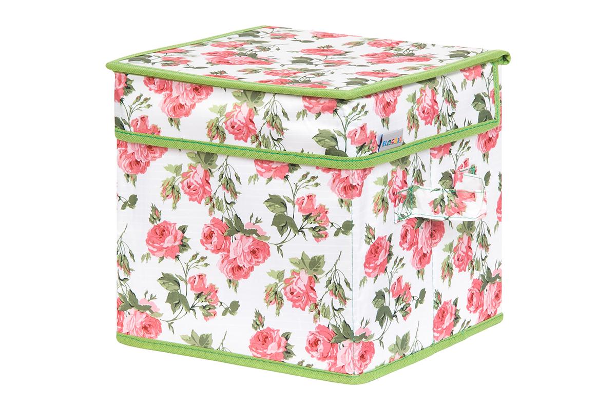 Кофр для хранения вещей EL Casa Розовый рассвет, складной, 22 х 22 х 22 см1004900000360Кофр для хранения представляет собой закрывающуюся крышкой коробку жесткой конструкции, благодаря наличию внутри плотных листов картона. Специально предназначен для защиты Вашей одежды от воздействия негативных внешних факторов: влаги и сырости, моли, выгорания, грязи. Благодаря оригинальному дизайну кофр будет гармонично смотреться в любом интерьере.