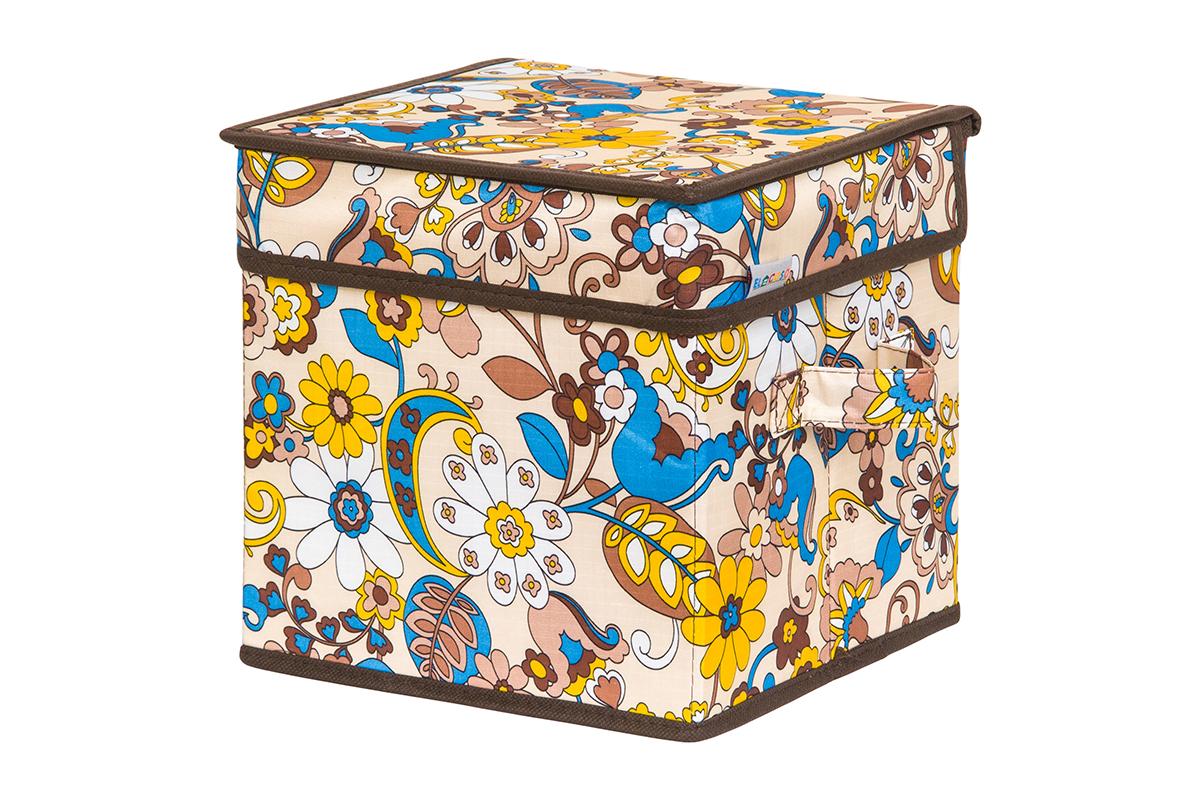 Кофр для хранения вещей EL Casa Сияние лета, складной, 22 х 22 х 22 см1004900000360Кофр для хранения представляет собой закрывающуюся крышкой коробку жесткой конструкции, благодаря наличию внутри плотных листов картона. Специально предназначен для защиты Вашей одежды от воздействия негативных внешних факторов: влаги и сырости, моли, выгорания, грязи. Благодаря оригинальному дизайну кофр будет гармонично смотреться в любом интерьере.
