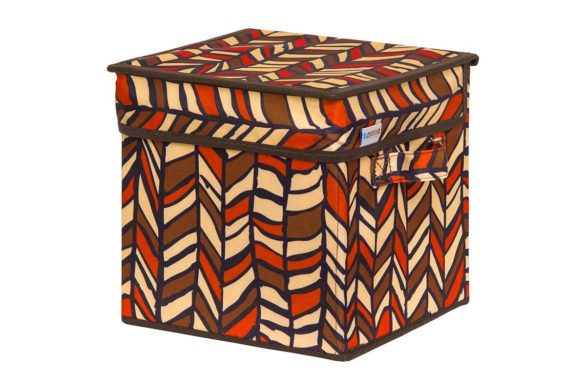 Кофр для хранения вещей EL Casa Африка, складной, 22 х 22 х 22 смS03301004Кофр для хранения представляет собой закрывающуюся крышкой коробку жесткой конструкции, благодаря наличию внутри плотных листов картона. Специально предназначен для защиты Вашей одежды от воздействия негативных внешних факторов: влаги и сырости, моли, выгорания, грязи. Благодаря оригинальному дизайну кофр будет гармонично смотреться в любом интерьере.