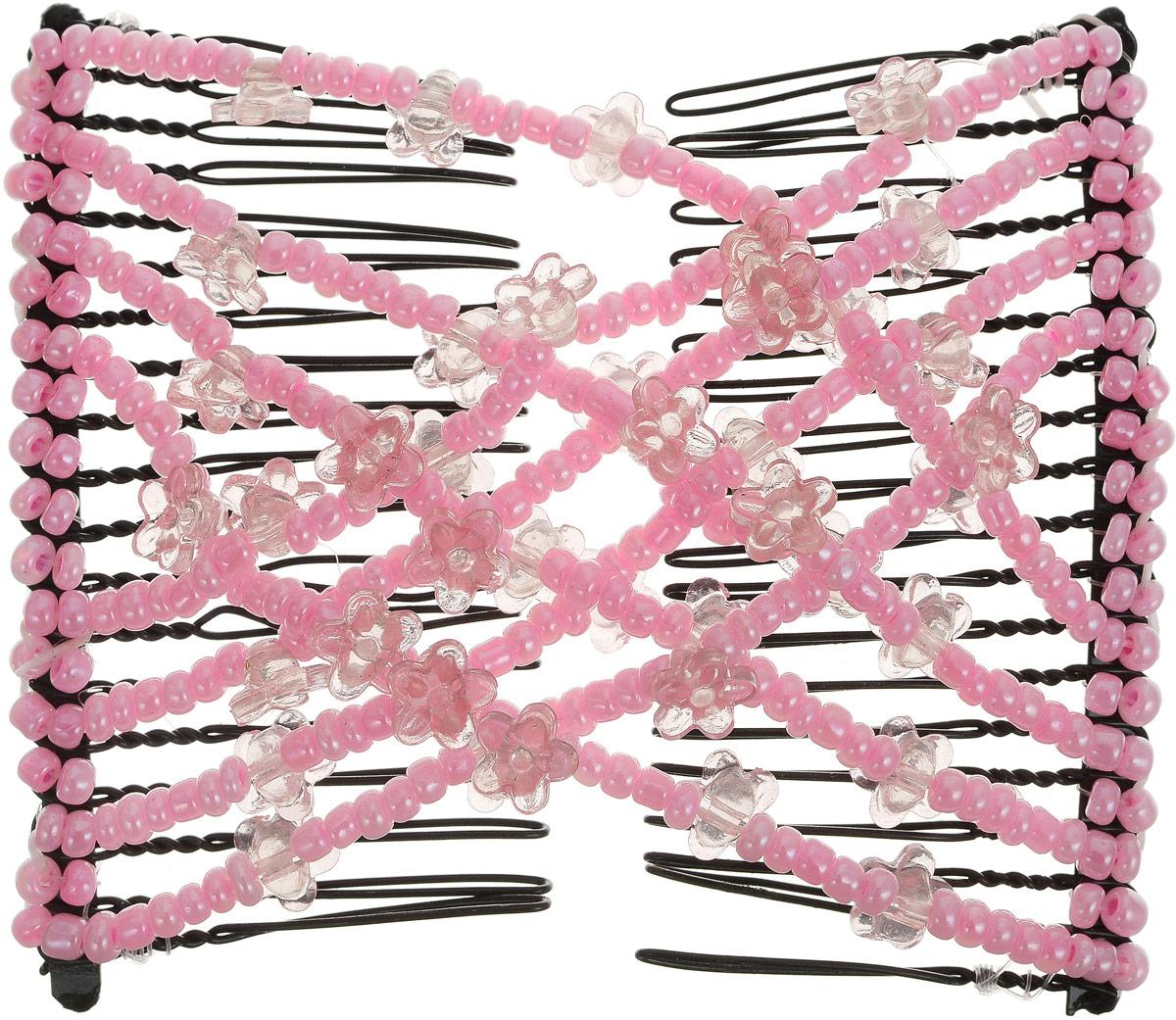 EZ-Combs Заколка Изи-Комбс, одинарная, цвет: розовый. ЗИО_цветочкиMP59.4DУдобная и практичная заколка EZ-Combs подходит для любого типа волос: тонких, жестких, вьющихся или прямых, и не наносит им никакого вреда. Заколка не мешает движениям головы и не создает дискомфорта, когда вы отдыхаете или управляете автомобилем. Каждый гребень имеет по 20 зубьев для надежной фиксации заколки на волосах. И даже во время бега и интенсивных тренировок в спортзале EZ-Combs не падает; она прочно фиксирует прическу, сохраняя укладку в первозданном виде.Небольшая и легкая заколка для волос EZ-Combs поместится в любой дамской сумочке, позволяя быстро и без особых усилий создавать неповторимые прически там, где вам это удобно. Гребень прекрасно сочетается с любой одеждой: будь это классический или спортивный стиль, завершая гармоничный облик современной леди. И неважно, какой образ жизни вы ведете, если у вас есть EZ-Combs, вы всегда будете выглядеть потрясающе.