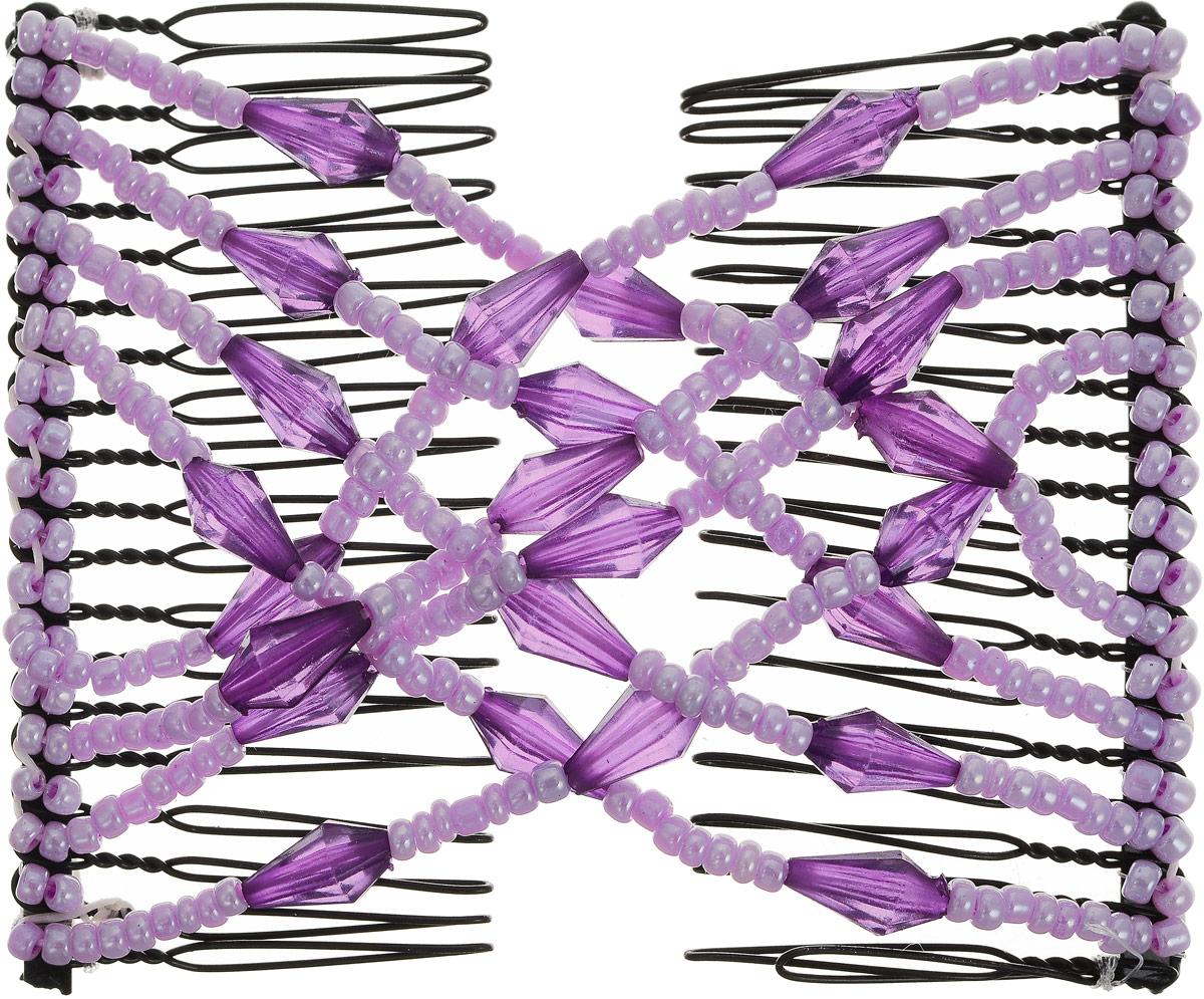 EZ-Combs Заколка Изи-Комбс, одинарная, цвет: сиреневый, фиолетовый. ЗИО_конусFS-00897Удобная и практичная заколка EZ-Combs подходит для любого типа волос: тонких, жестких, вьющихся или прямых, и не наносит им никакого вреда. Заколка не мешает движениям головы и не создает дискомфорта, когда вы отдыхаете или управляете автомобилем. Каждый гребень имеет по 20 зубьев для надежной фиксации заколки на волосах. И даже во время бега и интенсивных тренировок в спортзале EZ-Combs не падает; она прочно фиксирует прическу, сохраняя укладку в первозданном виде.Небольшая и легкая заколка для волос EZ-Combs поместится в любой дамской сумочке, позволяя быстро и без особых усилий создавать неповторимые прически там, где вам это удобно. Гребень прекрасно сочетается с любой одеждой: будь это классический или спортивный стиль, завершая гармоничный облик современной леди. И неважно, какой образ жизни вы ведете, если у вас есть EZ-Combs, вы всегда будете выглядеть потрясающе.