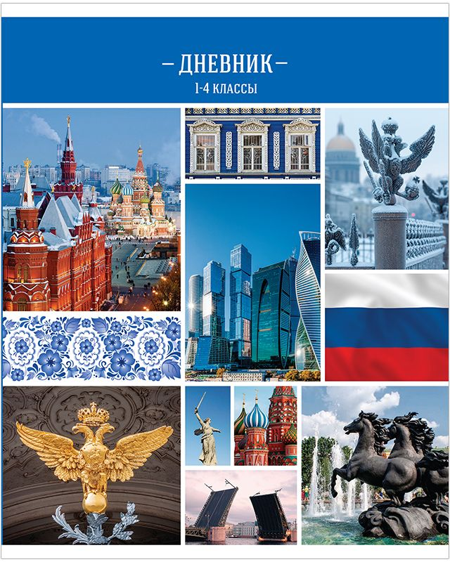Спейс Дневник школьный Россия для 1-4 классов Дм48л_11704