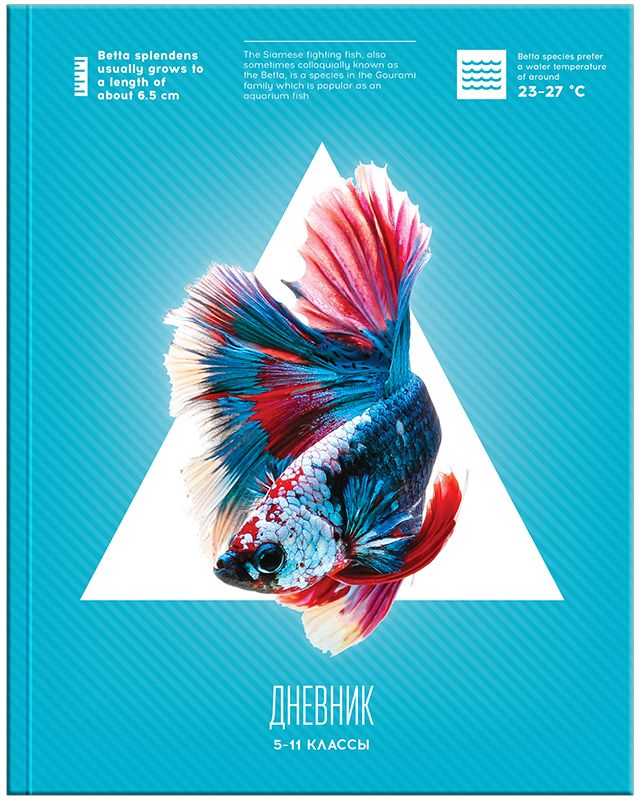 Спейс Дневник школьный Рыбка для 5-11 классов спейс дневник школьный рисунки мелом для 5 11 классов