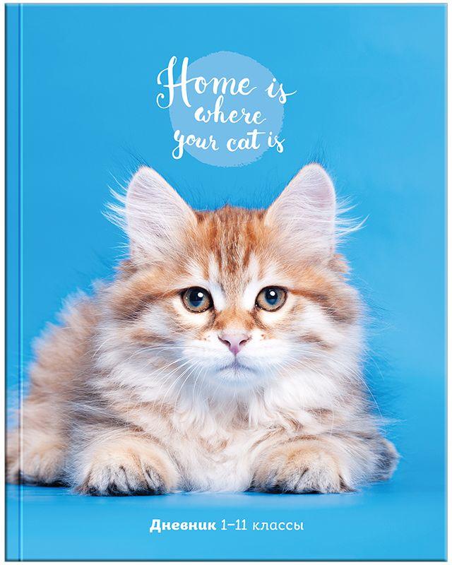 Спейс Дневник школьный Пушистый котик
