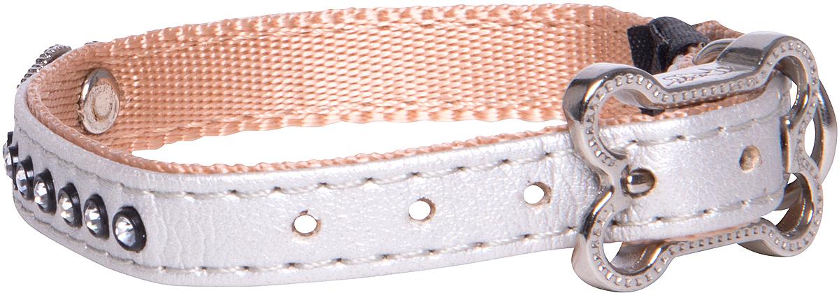 Ошейник для собак Rogz Luna, цвет: белый, ширина 1,1 см. Размер XS0120710Ошейник для собак Rogz Luna обладает нежнейшей мягкостью и гибкостью.Авторский дизайн, яркие цвета, изысканные декоративные элементы из страз.Ошейник подчеркнет индивидуальность вашей собаки.