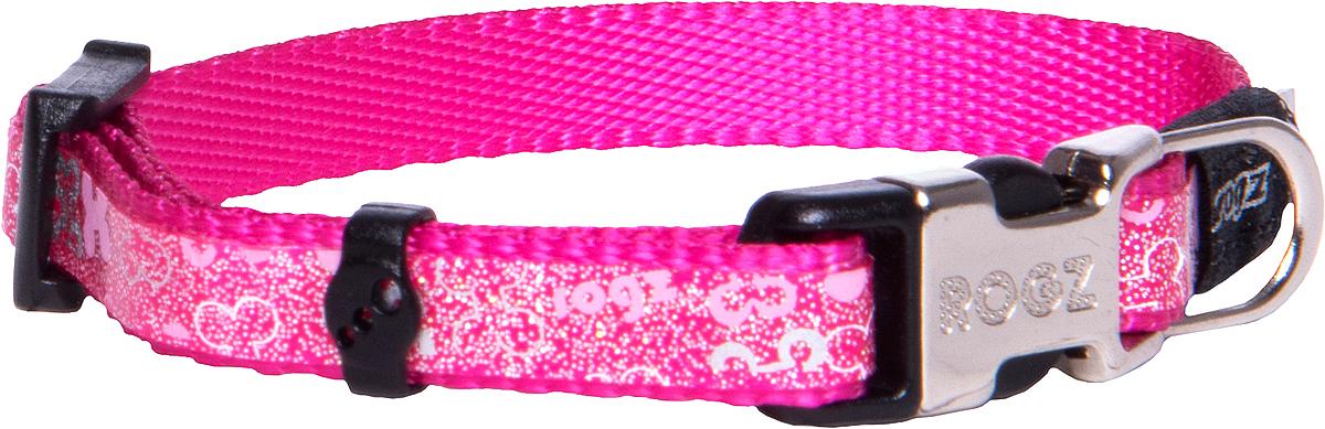 Ошейник для собак Rogz Trendy , цвет: розовый, ширина 0,8 см0120710Ошейник для собак Rogz Trendy  обладает нежнейшей мягкостью и гибкостью.Светоотражающие материалы для обеспечения лучшей видимости собаки в темное время суток.