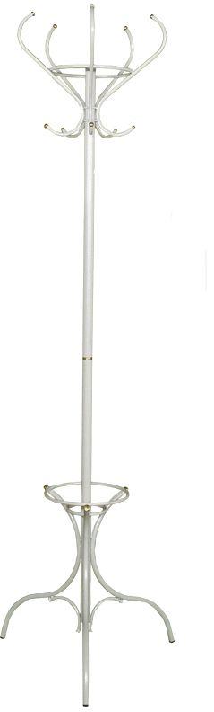 Вешалка напольная ЗМИ Тюльпан, цвет: белый, серебристый, 191 х 62 смS03301004Назначение: Для размещения верхней одежды, головных уборов, перчаток. Область применения: В любых помещениях – дом, офис, общепит и других.Материал: Стальная труба диаметром 10, 16, 30 мм; декоративные окончания – латунь шлифованная, пластиковые заглушки; полимерно-порошковое покрытие.Конструкция: Разборная, состоит из 2-х сварных частей, стыкуется по центру. Упаковка: ПЭТ пленка. Габариты (Д х Ш х В):В собранном виде: 1910 х 620 мм. В упакованном виде: 980 х 535 мм. Вес Нетто: 3,05 кг. Вес Брутто: 3,1 кг. Объем: 0,081 куб.м. Отличительные особенности: - надежная сварная конструкция;- при равномерном размещении на крючки можно повесить большое количество одежды;- внутри верхней части вешалки между крючками удобно размещаются перчатки, шапки и многое другое;- на нижней части удобно разместить зонты или поставить сумку. При правильной эксплуатации срок службы 10 лет.