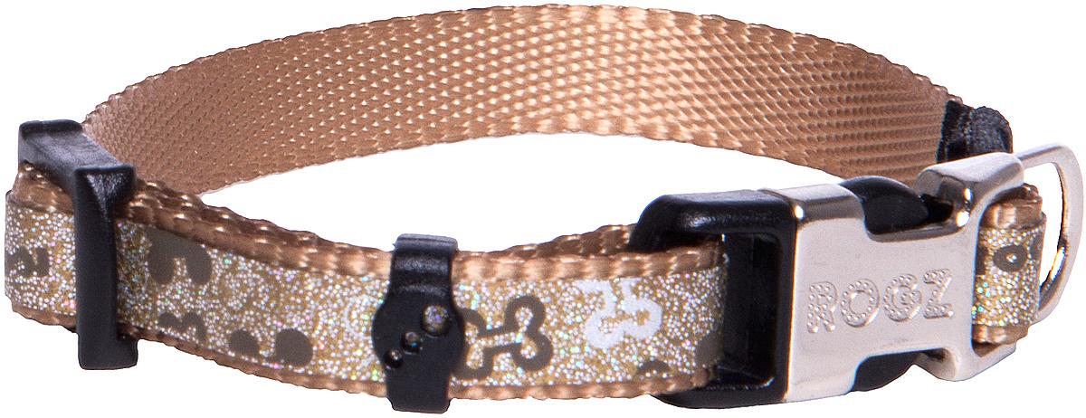 Ошейник для собак Rogz Trendy , цвет: серо-коричневый, ширина 0,8 см0120710Ошейник для собак Rogz Trendy  обладает нежнейшей мягкостью и гибкостью.Светоотражающие материалы для обеспечения лучшей видимости собаки в темное время суток.