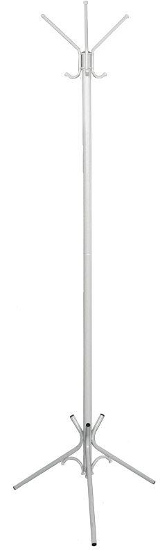 Вешалка напольная ЗМИ Тройка, цвет: белый, серебристый, 176 х 63 смRG-D31SНазначение: Для размещения верхней одежды. Область применения: В любых помещениях – дом, офис, общепит и других. Материал: Стальная труба диаметром 10, 16, 30 мм; стальные колпачки; пластиковые заглушки; полимерно-порошковое покрытие. Конструкция: Разборная, состоит из 2-х сварных частей, стыкуется по центру. Упаковка: ПЭТ пленка. Габариты (Д х Ш х В): В собранном виде: 1760 х 630 мм. В упакованном виде: 975 х 555 мм.Вес Нетто: 1,9 кг. Вес Брутто: 2 кг. Объем: 0,03 куб.м. Отличительные особенности: - надежная сварная конструкция;- занимает немного места;- классическая модель.При правильной эксплуатации срок службы 10 лет.