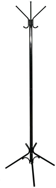 Вешалка напольная ЗМИ Тройка, цвет: черный, 176 х 63 смDEN-61Вешалка -стойка Тройка гармонично впишется почти в любой интерьер. Напольная вешалка обладает повышенной функциональностью. Конструкция изделия состоит из 3 верхних крючков, 3 нижних крючков и устойчивых опор. Металлическая вешалка надежна и проста в уходе. Данное изделие полностью безопасно в использовании.Назначение: Для размещения верхней одежды. Область применения: В любых помещениях – дом, офис, общепит и других. Материал: Стальная труба диаметром 10, 16, 30 мм; стальные колпачки; пластиковые заглушки; полимерно-порошковое покрытие. Конструкция: Разборная, состоит из 2 сварных частей, стыкуется по центру. Упаковка: ПЭТ пленка. Габариты (Д х Ш х В):В собранном виде: 1760 х 630 мм. В упакованном виде: 975 х 555 мм.Вес Нетто: 1,9 кг. Вес Брутто: 2 кг. Объем: 0,03 куб.м. Отличительные особенности: - надежная сварная конструкция;- занимает немного места;- классическая модель. При правильной эксплуатации срок службы 10 лет.