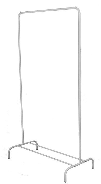 Вешалка гардеробная ЗМИ Радуга 1, с полкой для хранения обуви, цвет: белый, серебристый, 82 х 39 х 150 см1004900000360Назначение: Гардеробная вешалка для размещения одежды. Область применения: В любых помещениях – дом, офис, общепит и других. Материал: Труба диаметров 18 мм, труба диаметром 12 мм; стальные шарики; полимерно-порошковое покрытие. Конструкция: Разборная. Упаковка: Коробка. Габариты (Д х Ш х В):В собранном виде: 820 х 390 х 1500 мм. В упакованном виде: 1290 х 405 х 45 мм. Вес Нетто: 1,84 кг. Вес Брутто: 2,34 кг. Объем: 0,024 куб.м. Отличительные особенности: - Пластиковые заглушки;- Нагрузка до 20 кг;- Вместимость до 15 плечиков;- Полка для размещения обуви.