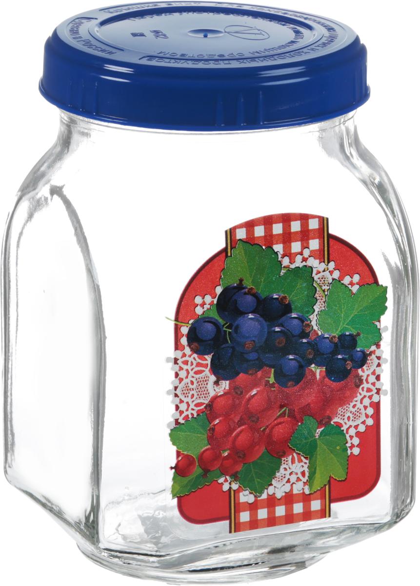 Банка для хранения Квестор Смородина, 800 млVT-1520(SR)Банка Квестор Смородина, изготовленная из стекла, прекрасно подойдет для консервирования и хранения варенья, а особенно смородинового, поскольку внешние стенки оформлены изображением этих ягод. Емкость снабжена пластиковой крышкой, которая плотно и герметично закрывается, дольше сохраняя аромат и свежесть содержимого. Банка Квестор Смородина станет полезным приобретением и пригодится на любой кухне.Высота банки: 14 см.Диаметр (по верхнему краю): 7,5 см.