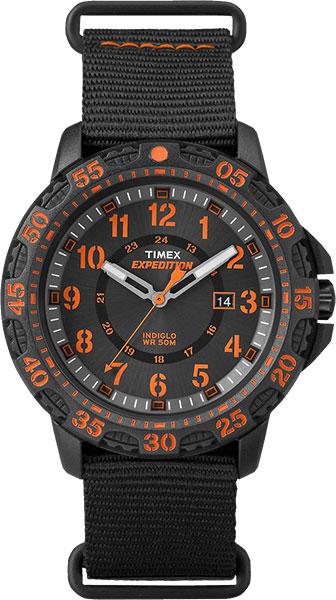 Zakazat.ru Наручные часы мужские Timex Expedition, цвет: черный, оранжевый. TW4B05200