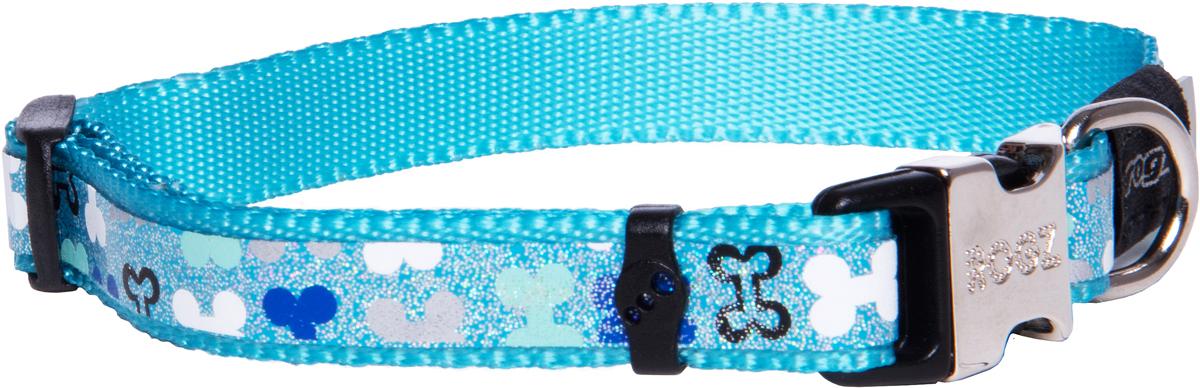 Ошейник для собак Rogz Trendy , цвет: голубой, ширина 1,2 см0120710Ошейник для собак Rogz Trendy  обладает нежнейшей мягкостью и гибкостью.Светоотражающие материалы для обеспечения лучшей видимости собаки в темное время суток.