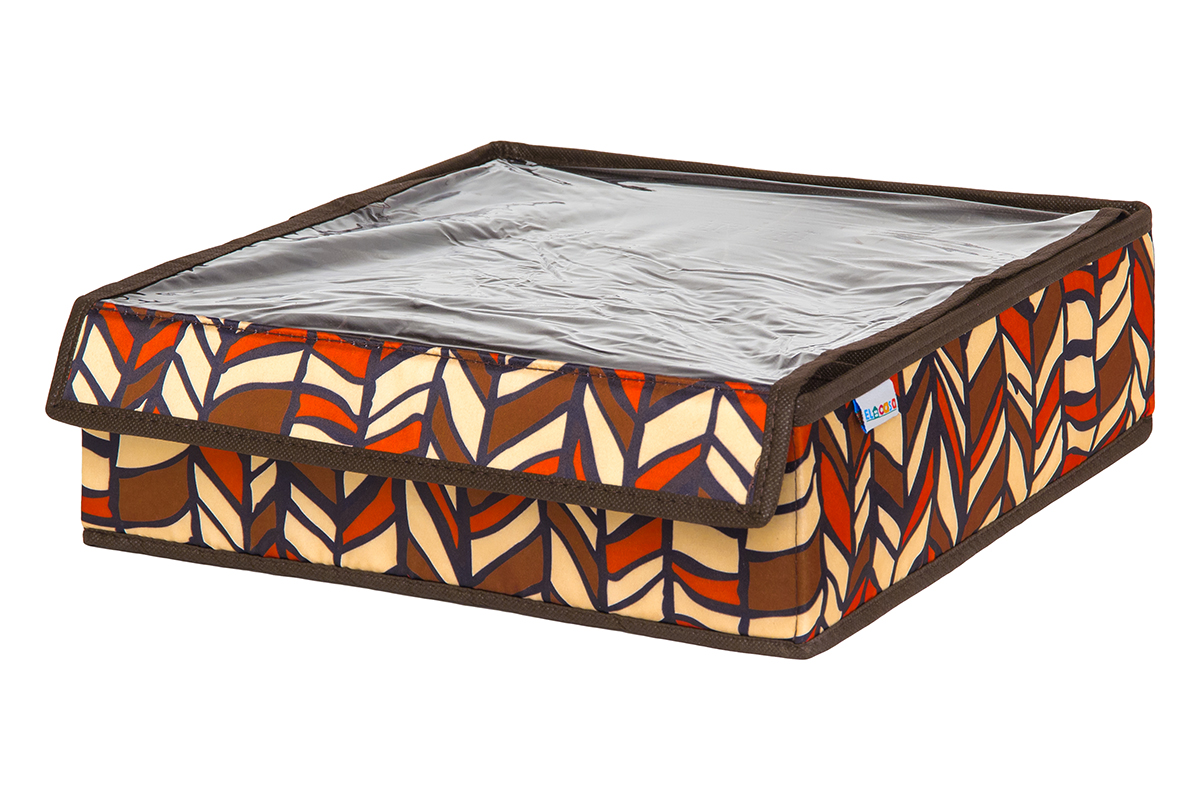 Кофр для хранения вещей EL Casa Африка, складной, 32 х 32 х 10 смRG-D31SКофр на 16 секций подходит для хранения нижнего белья, колготок, носков и другой одежды. Прозрачная крышка позволяет видеть содержимое кофра, не открывая его. Такой органайзер позволит вам хранить вещи компактно и удобно. Размер 32х32х10 см.