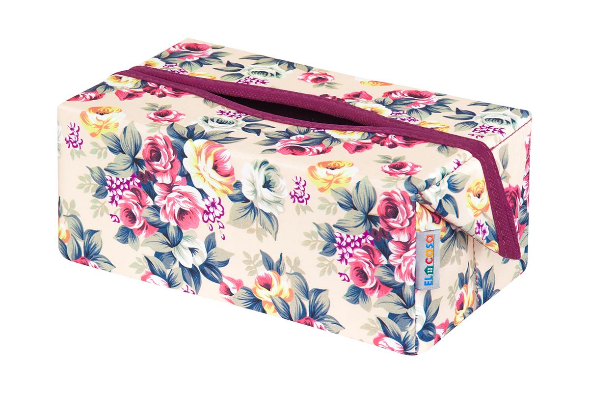 Органайзер для мелочей и косметики EL Casa Розовый букет, складной, 20 х 12 х 95 см1004900000360Удобный и компактный органайзер для хранения салфеток. Его можно также использовать как косметичку для хранения баночек и тюбиков, кремов, парфюмерии и лаков. Изготовлен из высококачественного нетканного материала.