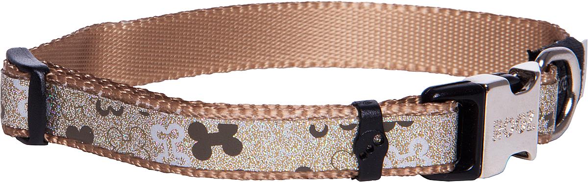Ошейник для собак Rogz Trendy , цвет: серо-коричневый, ширина 1,2 см0120710Ошейник для собак Rogz Trendy  обладает нежнейшей мягкостью и гибкостью.Светоотражающие материалы для обеспечения лучшей видимости собаки в темное время суток.
