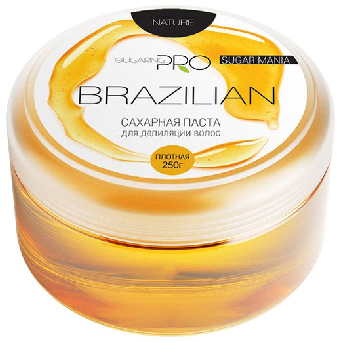 Sugaring Pro Сахарная паста Бразильская плотная, для бикини, 250 г219Гипоаллергенная плотная сахарная паста специально разработана для удаления жестких темных волос в области бикини и подмышечных впадин. Мягко удалит волоски от 3 мм, не травмируя кожу. После процедуры кожа становится мягкой и абсолютно гладкой. Эффект сохраняется более 3-х недель.