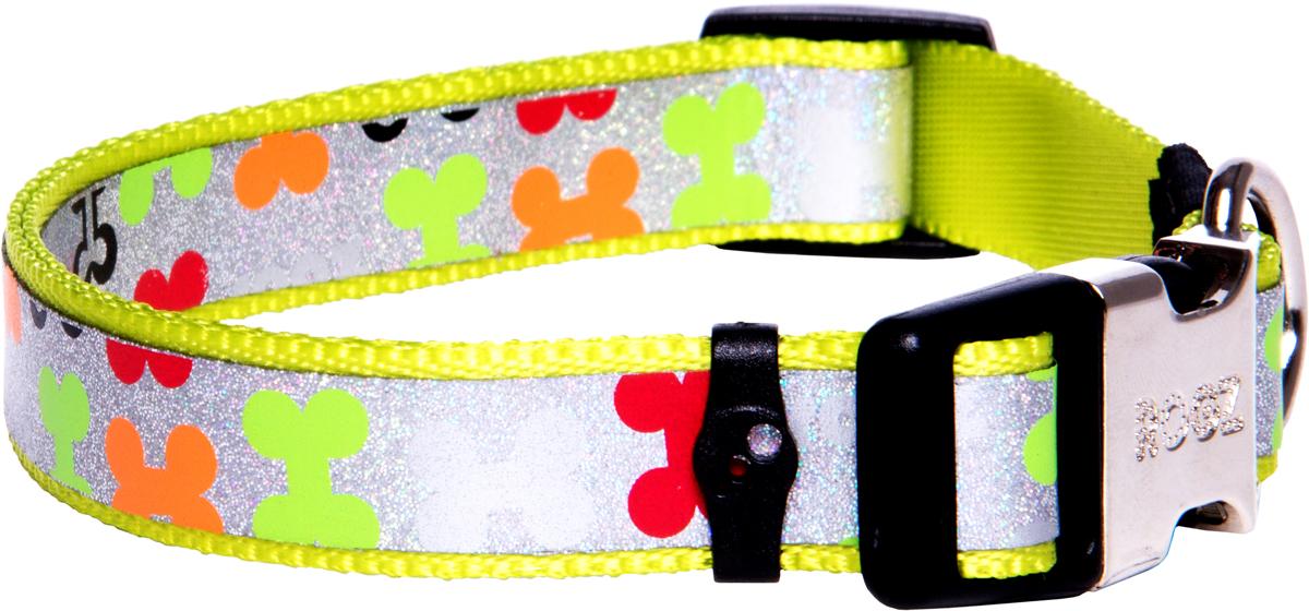 Ошейник для собак Rogz Trendy , цвет: салатовый, ширина 1,6 см0120710Ошейник для собак Rogz Trendy  обладает нежнейшей мягкостью и гибкостью.Светоотражающие материалы для обеспечения лучшей видимости собаки в темное время суток.