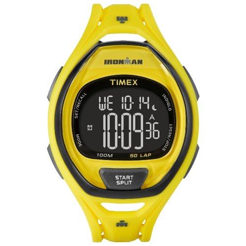 Наручные часы Timex Ironman, цвет: желтый. TW5M01800BM8434-58AEКорпус 42 мм желтого цвета, Секундомер с функцией LAP (50), Интервальный таймер, таймер обратного отсчета, будильник, Водозащита 10ATM, Подсветка INDIGLO®
