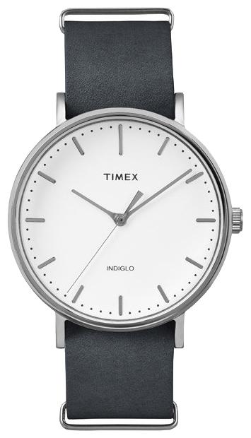 Наручные часы женские Timex Weekender, цвет: серебряный. TW2P91300EQW-M710DB-1A1Корпус 41 мм с покрытием cеребристого цвета, на ремне из натуральной кожи с возможностью фиксации корпуса под размер запястья;минеральное стекло;аналоговый циферблат белого цвета, индексы;подсветка INDIGLO;водозащита 3 AТМ.