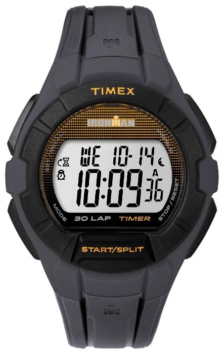 Наручные часы Timex Ironman, цвет: черный. TW5K95600BM8434-58AEКорпус 41 мм, каучуковый браслет черного цвета, счетчик обратного отсчета, будильник, секундомер, функция lap memory 30, водозащита 10 АТМ, подсветка INDIGLO