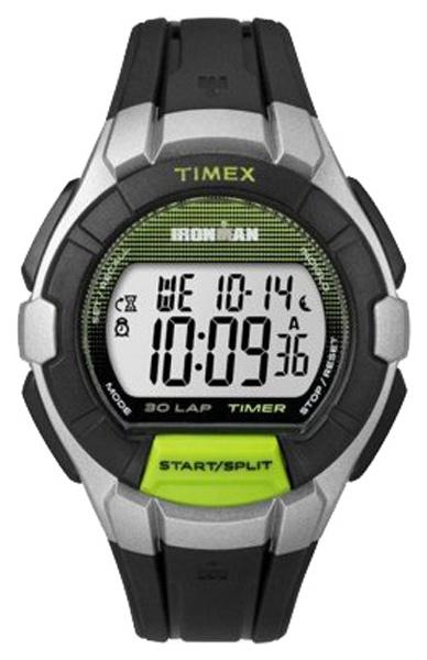 Наручные часы Timex Ironman, цвет: черный. TW5K95800BM8434-58AEКорпус 41 мм, цвета: черный и зеленый, будильник, секудомер, функция lap memory, водозащита 10 АТМ, подсветка INDIGLO