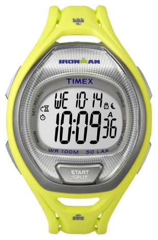 Наручные часы Timex Ironman, цвет: желтый. TW5K96100BM8434-58AEНаручные электронные часы Timex Ironman выполнены из высококачественных материалов. Ремень выполнен из каучука. Модель дополнена секундомером, функцией lap memory 50, таймером обратного отсчета, будильником, водозащитой 10 АТМ, подсветкой INDIGLO.