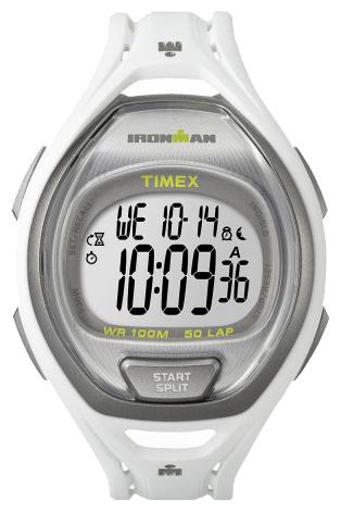 Наручные часы Timex Ironman, цвет: белый. TW5K96200BM8434-58AEНаручные электронные часы Timex Ironman выполнены из высококачественных материалов. Ремень выполнен из каучука. Модель дополнена секундомером, функцией lap memory 50, таймером обратного отсчета, будильником, водозащитой 10 АТМ, подсветкой INDIGLO.
