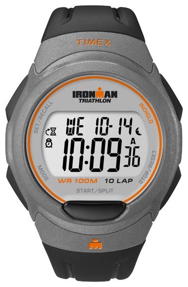 Наручные часы Timex Ironman, цвет: серый. T5K607BM8434-58AEНаручные электронные часы Timex Ironman выполнены из высококачественных материалов. Ремешок выполнен из силикона. Модель дополнена секундомером, таймером с функцией 10 laps, таймером обратного отсчета, будильником, водозащитой 10 АТМ, подсветкой INDIGLO.