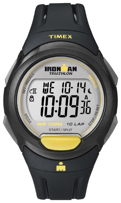 Наручные часы Timex Ironman, цвет: черный. T5K779BM8434-58AEмеханизм кварцевый, корпус: пластик, 41 мм, стекло акриловое, ремешок: силикон, доп. функции: память на 10 тренировок, таймер, будильник, водозащита: 10 АТМ, TapScreen, подсветка INDIGLO