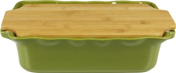 Форма для выпечки Appolia Cook&Stock, прямоугольная, с доской, цвет: темно-зеленый , 3,7 лFS-91909В оригинальной коллекции Cook&Stoock присутствуют мягкие цвета трех оттенков. Закругленные углы облегчают чистку. Легко использовать. Компактное хранение. В комплекте натуральные крышки из бамбука, которые можно использовать в качестве подставки, крышки и разделочной доски. Прочная жароустойчивая керамика экологична и изготавливается из высококачественной глины. Прочная глазурь устойчива к растрескиванию и сколам, не содержит свинца и кадмия. Глина обеспечивает медленный и равномерный нагрев, деликатное приготовление с сохранением всех питательных веществ и витаминов, а та же долго сохраняет тепло, что удобно при сервировке горячих блюд.