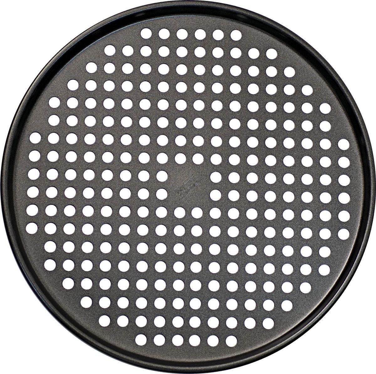 Форма для пиццы Salt&Pepper Heavy Bake, 33 см391602Корпус формы для выпечки выполнен из углеродистой стали для энергосберегающего и равномерного прогревания, что обеспечивает однородность выпечки. Внутреннее покрытие -2-х слойное антипригарное, которое не содержит ПФОК, что позволяет легко извлечь выпечку из формы. Толстые стенки корпуса предотвращают деформацию. Легко моется. Подходит для использования в духовом шкафу. Рекомендуется мыть вручную. Рекомендуется использовать деревянные и силиконовые аксессуары.